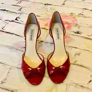 Steve Madden Patent Leather Shoes Open Toe Size 8